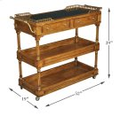 Capital Serving Cart, Fruitwood Finish Product Image