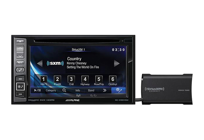 "6.1"" In-Dash DVD/GPS Navigation Receiver With SiriusXM Tuner"