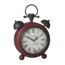 Distressed Red Desk Clock.