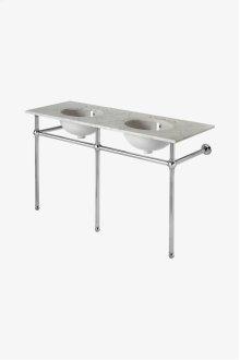 "Universal Metal Round Three Leg Double Washstand 56"" x 19 1/2"" x 31 1/2"" STYLE: UNWS33"