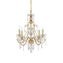 Gold & Crystal Chandelier