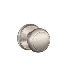 Andover Knob Hall & Closet Lock - Satin Nickel