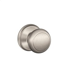 Andover Knob Hall & Closet Lock - Satin Nickel