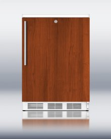 Commercially Approved Solid Door Wine Cellar for Freestanding Use, With Integrated Door Frame for Full Overlay Panels, White Cabinet, and Front Lock