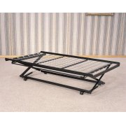 Classic Black Pop-up Trundle Bed Product Image