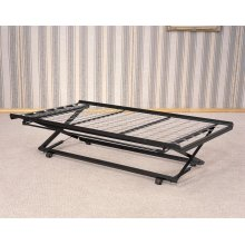 Classic Black Pop-up Trundle Bed