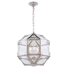 Gordon Collection 3-Light Polished Nickel Finish Pendant