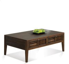 Modern Gatherings Open Slat Coffee Table Brushed Acacia finish