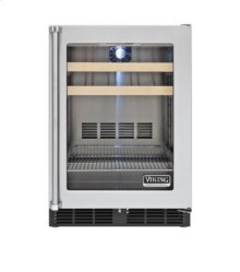 "24"" Beverage Center, Clear Glass, Right Hinge/Left Handle"