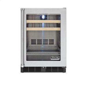 "Viking24"" Beverage Center, Clear Glass, Right Hinge/Left Handle"