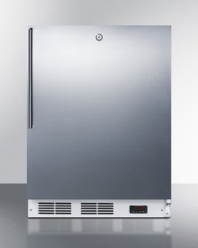 ADA Compliant Commercial Built-in Medical All-freezer Capable of -25 C Operation, With Wrapped Stainless Steel Door, Thin Handle, and Lock