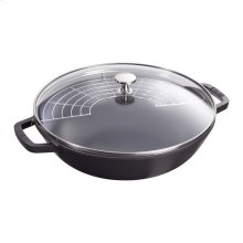 Staub Cast Iron 4.5-qt Perfect Pan, Black Matte