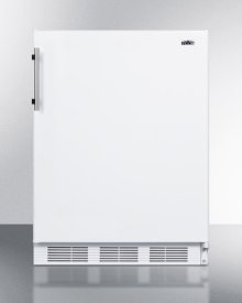 Freestanding Counter Height Refrigerator-freezer for Residential Use, Cycle Defrost With Deluxe Interior and White Finish