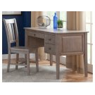 2-Drw Lancaster Executive Shaker Desk in Taupe Gray Product Image