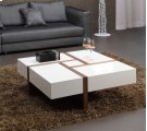 Modrest Makai Modern White & Walnut Square Coffee Table Product Image