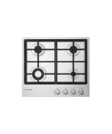 "Gas on Steel Cooktop 24"" 4 Burner"