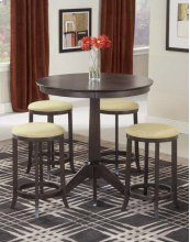 Tiburon Counter Height Set W/ Backless Stools