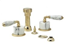 VALENCIA Four Hole Bidet Set K4338B - Polished Brass