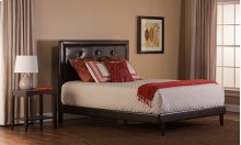 Becker Twin Bed Set - Brown Faux Leather