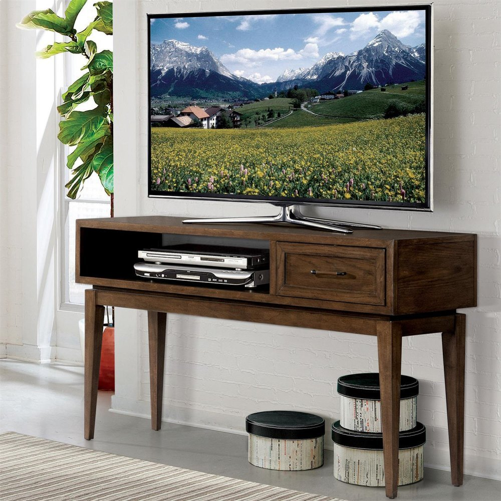 Icon furniture art riverside vogue console table plymouth brown oak finish in greater houston and surrounding areas 46215