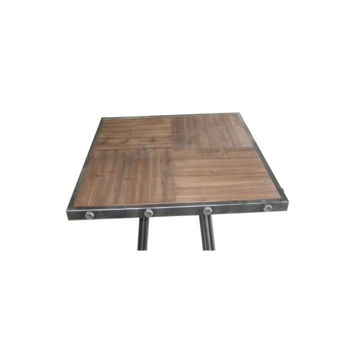 Emerald Home D102-11 Laurell Hill Square Pub Height Dining Table, Patina Gray
