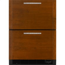 "Refrigerator/Freezer Drawers, 24""(w), Custom Overlay"