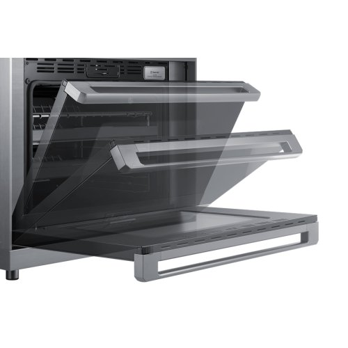 """36"""" Pro Dual-Fuel Steam Range, Silver Stainless Steel, Natural Gas/High Altitude"""