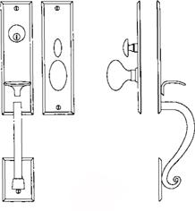 """Entrance Handle Set - Complete single cylinder set for 2 1/4"""" door"""