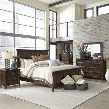 Queen Panel Bed, Dresser & Mirror, Chest, NS