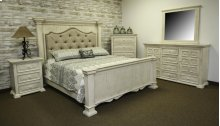 Terra White Queen Upholstered Bed