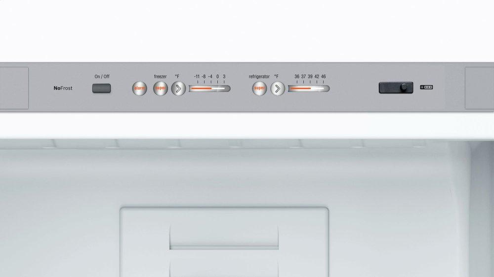 B10cb80nvwbosch 800 Series Free Standing Fridge Freezer White Glass