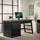 Perspectives - Single Pedestal Desk - Ebonized Acacia Finish Product Image