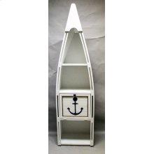 "#102C Canoe Bookshelf with Cutout Anchor 23.5""wx16.5""dx83""h"