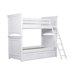 Clearance Item--Zoe Bunk Ladder & Guard Rail with Trundle Storage Unit