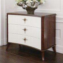 Klismos Three-Drawer Cabinet-Walnut/Ivory