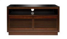 No Tools Assembly Chocolate Finish Wood A/V Cabinet
