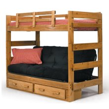 Futon Bunk Bed with Metal Futon Deck and Mechanism