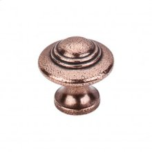 Ascot Knob 1 1/4 Inch - Old English Copper