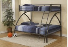 Twin/full Black Bunk Bed