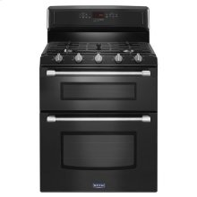 Maytag® 30-inch Wide Double Oven Gas Range with Power™ Burner - 6.0 cu. ft. - Black