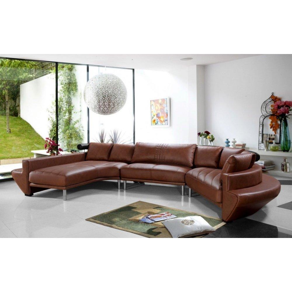 Divani Casa Jupiter - Contemporary Leather Sectional Sofa
