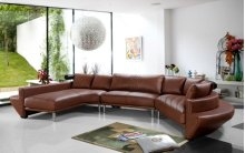 Divani Casa Jupiter - Contemporary Leather Sectional Sofa