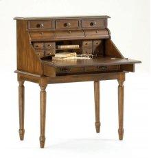 Ornate Dark Pecan Secretary Desk