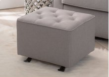 Emma Diamond Tufted Nursery Gliding Ottoman - French Grey (1304)
