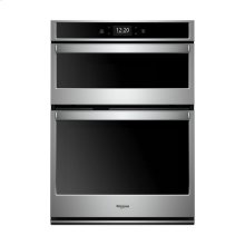 Whirlpool® 5.7 cu. ft. Smart Combination Wall Oven with Touchscreen - Black-on-Stainless