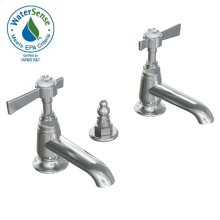Savina Pillar Taps Lavatory Faucet Lever Handles - Polished Chrome