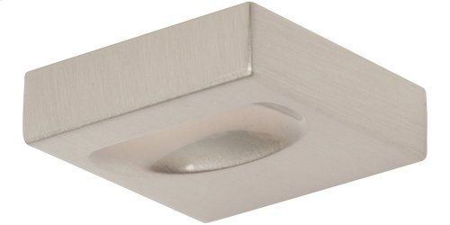 Thin Square Knob 1 1/4 Inch - Brushed Nickel