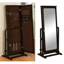 """Antique Black"" Cheval Jewelry Wardrobe"