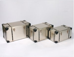 3pc Set Rect Accent Tables-tan Alum-su (3/ctn)
