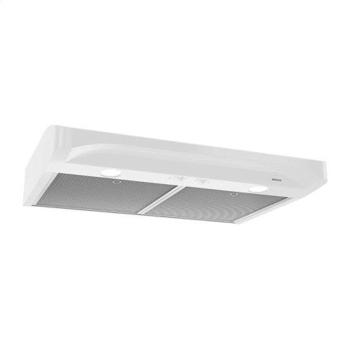 Alta 30-inch 250 CFM White Range Hood with light